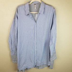 NEW $98 Free People Women M Long Sleeve Button Fro